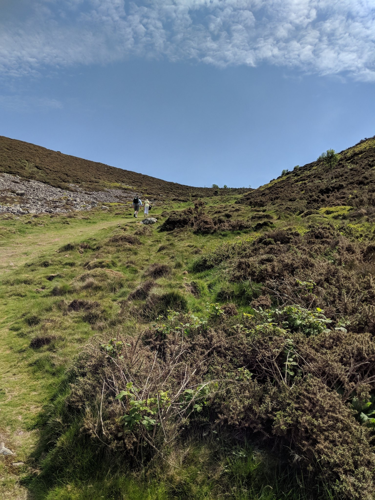 Bossington Hill.. the final climb (steeper than in the pic!)