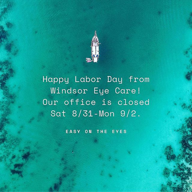 Happy Labor Day weekend from your favorite eye doc 😎
