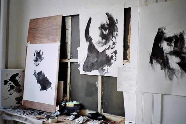 Triptych  Charcoal on Fabriano