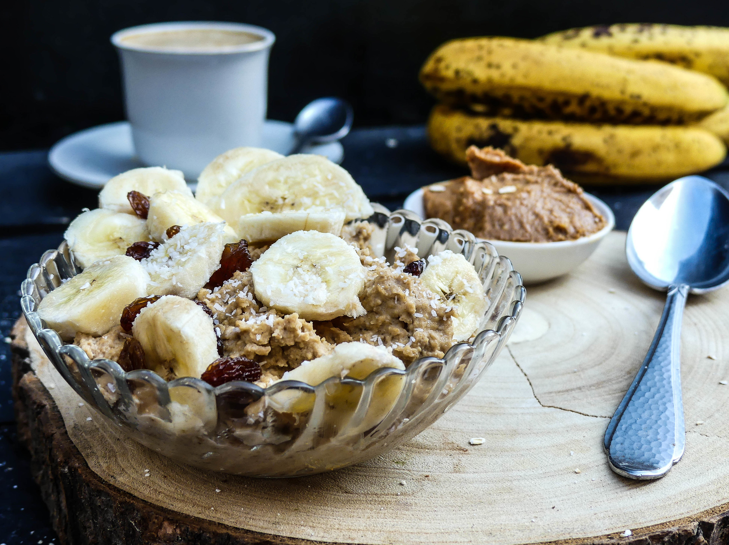 Kickstart havermout ontbijt met koffie