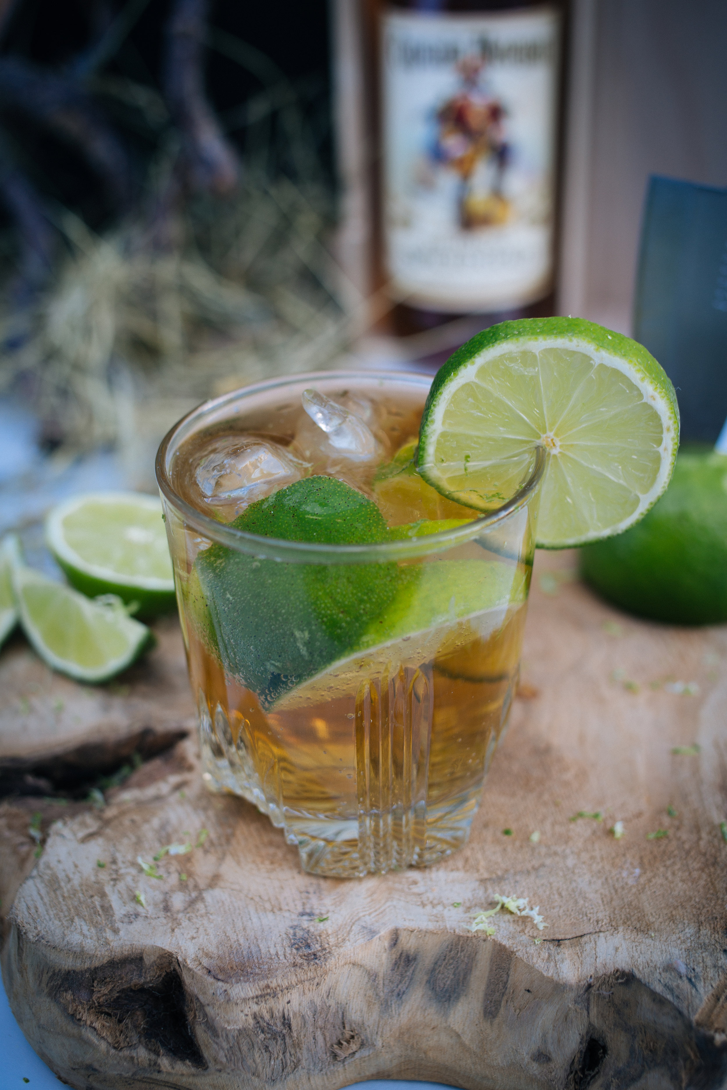 Cocktail mit ginger ale