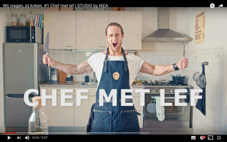 Wat kook   IK  op een eerste date? Wat is mijn    weapon of choice   in de keuken?    IKEA    kwam thuis langs bij mij en vroegen   mij  het schort van het lijf.