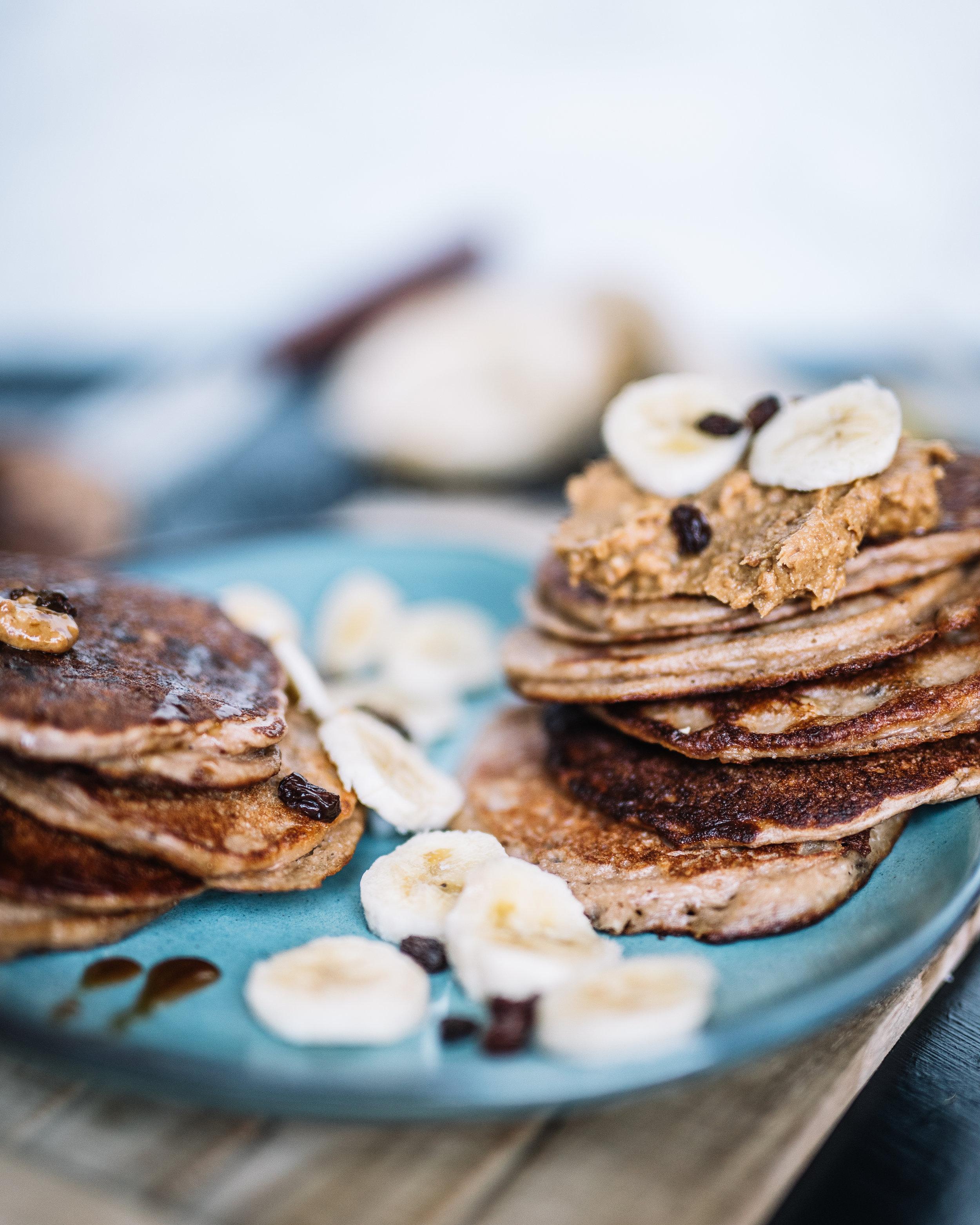 Peanut butter, raisins & peanuts Pancakes7.jpg