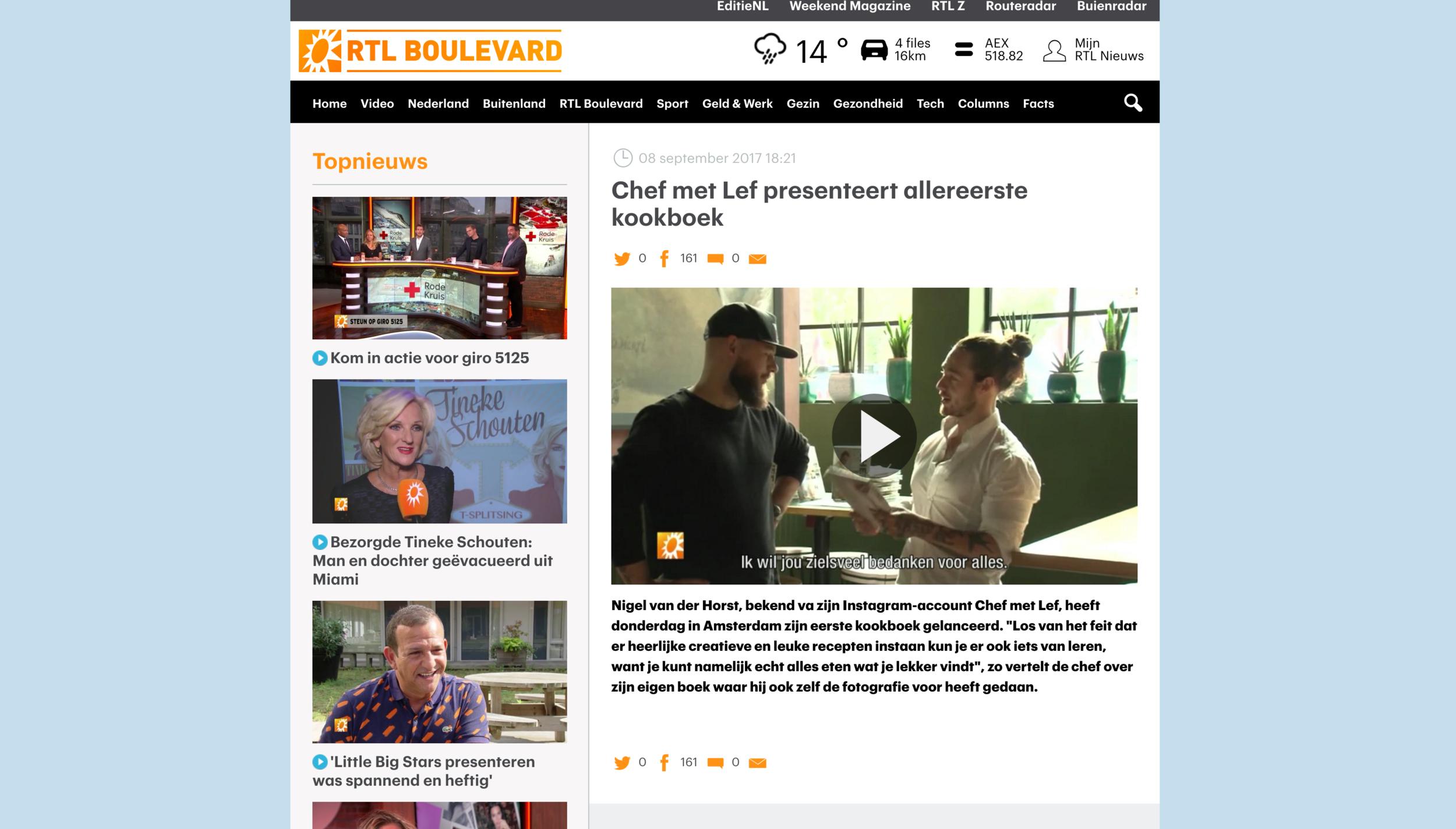 Zie hier mijn BOEK LANCERING & INTERVIEW MET RTL BOULEVARD!