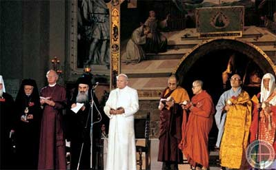 Last October leaders from the world's religions met in Assisi to commemorate the 25th anniversary of the first Day of Prayer for Peace at Assisi. They spent a day in praying for peace, but nearby each other, not together, since some would have objected to praying with other traditions.