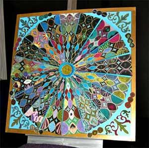 This art piece was created collaboratively at the Alchemy conference.