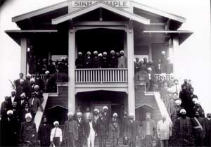 The Sikh gurdwara in Stockton, California, founded in 1915, was the first permanent Indian religious building in America. Photo: Sikhpioneers.org