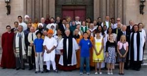 10-year anniversary of the 9/11 tragedy. Laura and other interfaith leaders gather for a sacred service at St. John's Cathedral & The Guibord Center in Los Angeles.