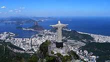 The statue Christ the Redeemer towers over Rio de Janeiro.