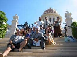Elijah summer school students visit the Bahai'i' Gardens in Haifa.