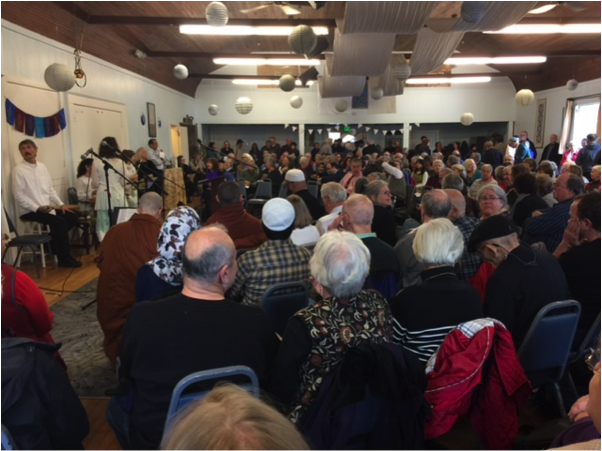 Four hundred gathered at a Cotati, California synagogue for a workshop in confronting religious and racial bigotry, particularly Islamophobia. – Photo: TIO