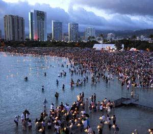 Ala Moana Beach Park on Memorial Day 2012