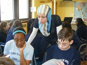 Face to Faith facilitates interfaith dialogue among students using videoconferences and online community.
