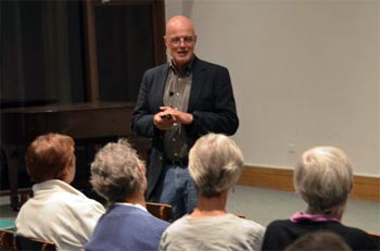 Brian McLaren talking about his new book last month at Calvary Presbyterian Church in San Francisco.