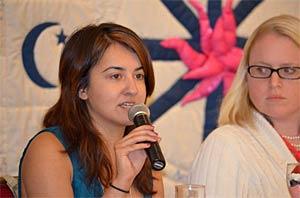 Sana Saeed presenting on a young adult panel at NAIN 2012.