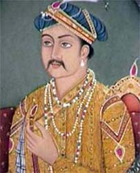 A painting of Akbar