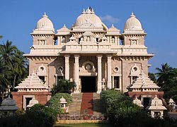 The Universal Temple at Sri Ramakrishna Math, where Swami Vivekananda spent his last days and was cremated.