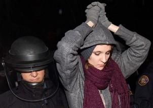 An Occupier arrested in Oregon. Photo Don Ryan