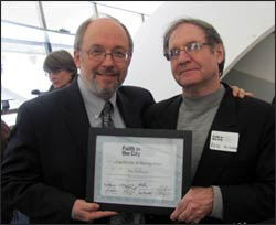 Joe Mihevc (left) with Paul McKenna