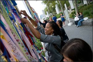 Groundswell's 9/11 Ribbons of Hope project swept across the country. Photo: Angela Jimenez