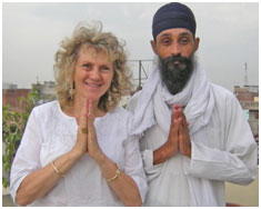 Ruth Broyde Sharon visiting Parvinder Khalsa, in Amritsar, India near the Sikh Golden Temple.