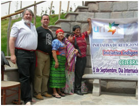 Don meeting with URI indigenous interfaith leaders in Peru in 2009.