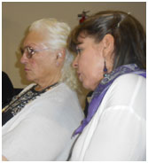 Sister Shirley and her translator listen to the stories of Indigenous women. – Photo: RBS
