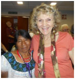 Ruth and a new friend after the workshop – Photo: TIO
