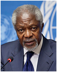 Kofi Anan  – Photo: Wikipedia