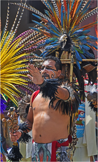 The opening ceremony included a group of Aztec and Mexican dancers. – Photo: Greg Harder