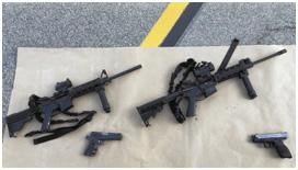 The weapons used in the tragic shooting on December 2 in San Bernardino  – Photo: San Bernardino Sheriff's Department