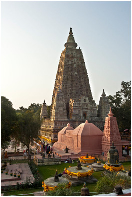 Mahabodhi Temple, in Bodh Gaya, in India's state of Bihar, where the Buddha is said to have become enlightened. – Photo: Wikimedia, Jakub Michankow