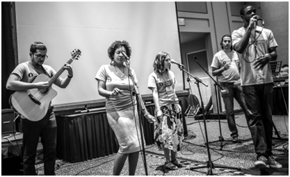 The Sanctuaries performing at the Parliament of the World's Religions last year in Salt Lake City. – Photo: by Erik Martínez Resly