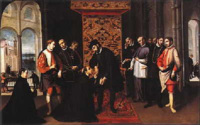 Francis Xavier asking John III of Portugal to support a Catholic expedition to Portuguese India to raise a Goan Inquisition – Photo: Wikipedia