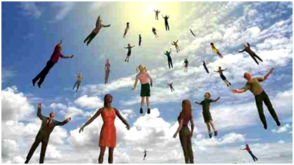 One artist's image of the Rapture – Graphic: Twitter