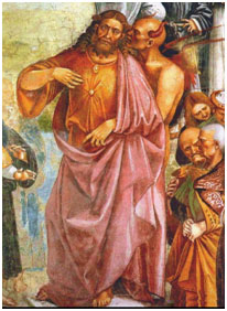 """Anti-Christ and the Devil, a detail from the fresco""""Deeds of the Anti-Christ""""(1501) by Luca Signorelli – Photo: Wikipedia"""