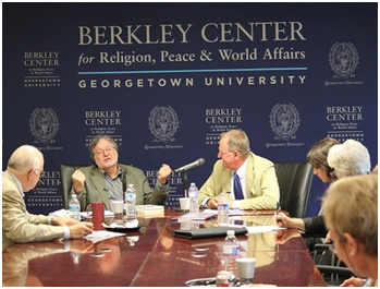 A panel discussion on science and religion at the Berkley Center – Photo: Berkley Center