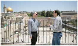Yehuda Stolov and Salah Alladin in Jerusalem