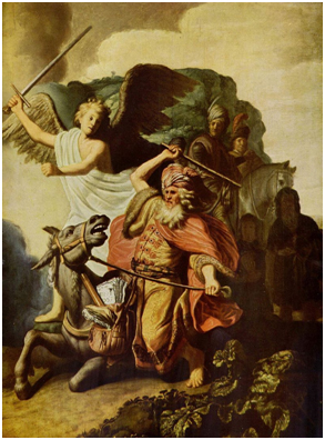 """""""The Prophet Balaam and the Ass""""  by Rembrandt van Rijn (1626) – Graphic: Wikipedia"""