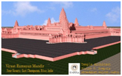 A model of the he temple being built in Bihar – Photo: Wikipedia