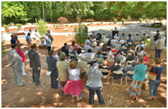 The dedication service of new Interfaith Prayer Garden in Atlanta, Georgia – Photo: Mercer
