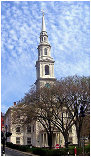 The First Baptist Church in America was founded in Providence, Rhode Island in 1638 by Roger Williams. – Photo: Wikipedia, Daniel Case