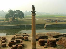 The Ashokan Pillar at Vaishali.