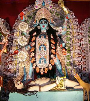 The Goddess Kali in a Kolkata Temple – Photo: Wikipedia
