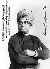 Swami Vivekananda in a photo taken in Chicago in 1893 – Photo: Wikipedia
