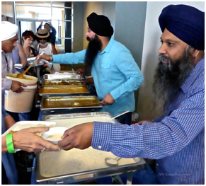 "The Khalsa Peace Corps served ""langar"" to all who attended. – Photo: Joy Krauthammer"