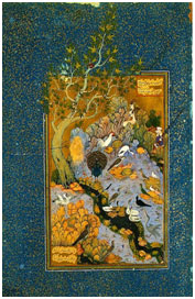"""A scene from""""The Conference of the Birds""""in a Persian miniature. – Photo: Wikipedia"""