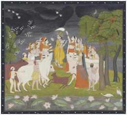 Krishna with the Gopis – Photo: Wikipedia, Smithsonian Freer and Sackler Gallery