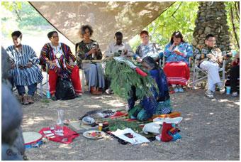 Ceremony at Hidden Springs – Photo: URI