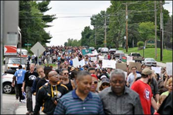 Protesters in Ferguson – Photo: Wikipedia